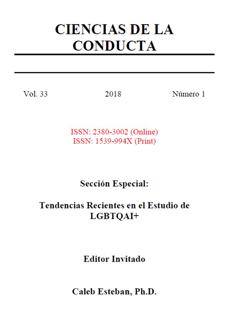 Ver Vol. 33 Núm. 1 (2018): Sección Especial: Tendencias Recientes en el Estudio de LGBTQAI+