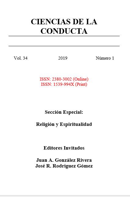Ver Vol. 34 Núm. 1 (2019): Sección Especial:  Religión y Espiritualidad